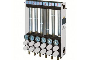 Injection moulding temperature control units - water flow regulator